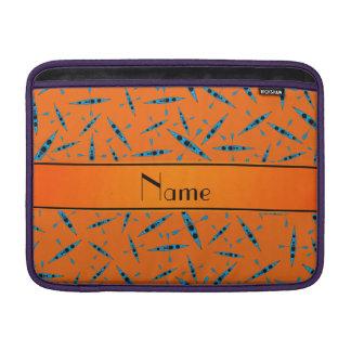 Personalized name orange kayaks MacBook sleeve