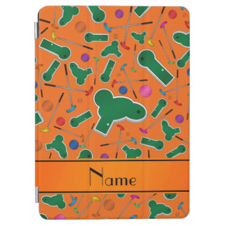 Personalized name orange mini golf iPad air cover