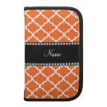 Personalized name orange moroccan pattern planner