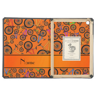 Personalized name orange mountain bikes cover for iPad air