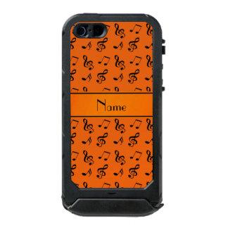 Personalized name orange music notes incipio ATLAS ID™ iPhone 5 case
