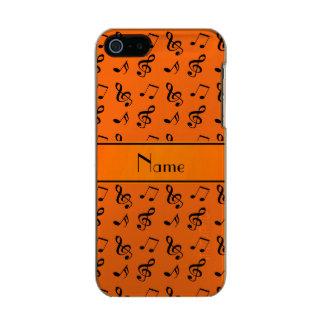 Personalized name orange music notes incipio feather® shine iPhone 5 case