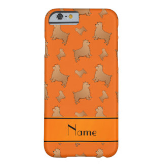 Personalized name orange Norwich Terrier dogs Barely There iPhone 6 Case