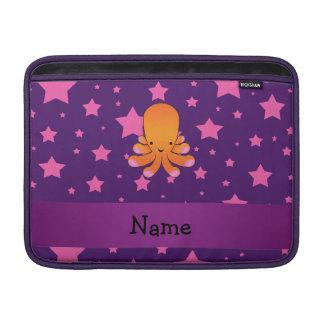 Personalized name orange octopus purple pink stars sleeve for MacBook air