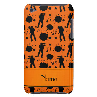 Personalized name orange paintball pattern barely there iPod cover