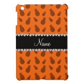 Personalized name orange pineapple pattern iPad mini cases