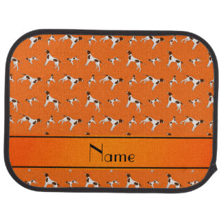 Personalized name orange Pointer dogs Car Floor Mat