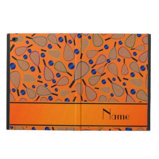Personalized name orange racquet balls pattern powis iPad air 2 case