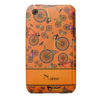 Personalized name orange road bikes Case-Mate iPhone 3 cases