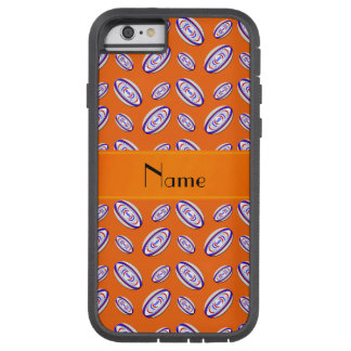 Personalized name orange rugby balls tough xtreme iPhone 6 case