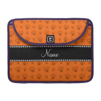Personalized name orange shells MacBook pro sleeve