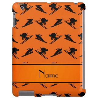 Personalized name orange ski pattern