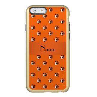 Personalized name orange soccer balls incipio feather shine iPhone 6 case