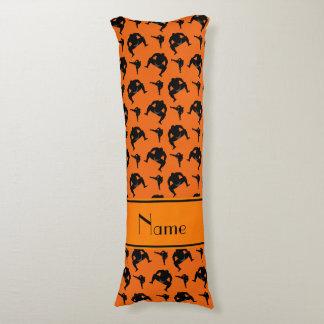 Personalized name orange sumo wrestling body pillow
