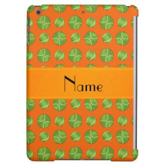 Personalized name orange tennis balls pattern iPad air case