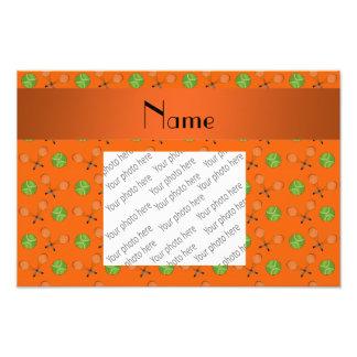 Personalized name orange tennis balls photograph