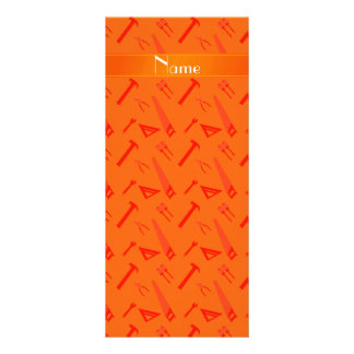 Personalized name orange tools pattern personalized rack card