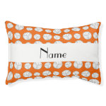 Personalized name orange volleyball balls small dog bed