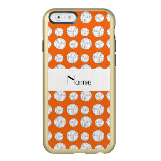 Personalized name orange volleyball balls incipio feather shine iPhone 6 case