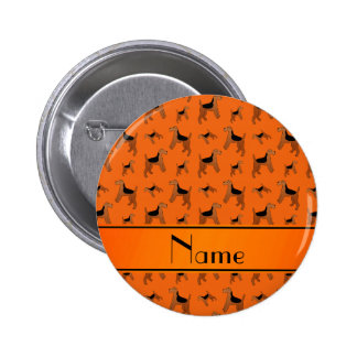 Personalized name orange Welsh Terrier dogs 2 Inch Round Button