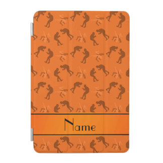 Personalized name orange wrestlers iPad mini cover