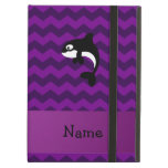 Personalized name orca whale purple chevrons iPad case