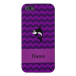 Personalized name orca whale purple chevrons covers for iPhone 5
