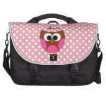Personalized name owl bags for laptop
