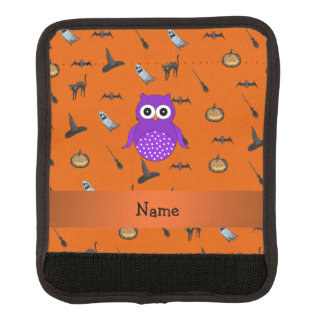 Personalized name owl halloween pattern handle wrap