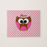 Personalized name owl puzzles