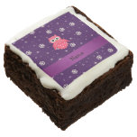 Personalized name owl snowflakes stars brownie