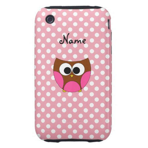 Personalized name owl tough iPhone 3 covers