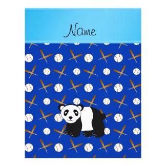 Personalized name panda baseball bats and balls custom flyer