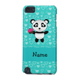 Personalized name panda cupcake turquoise hearts iPod touch 5G case