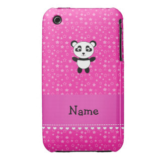 Personalized name panda pink stars iPhone 3 Case-Mate cases