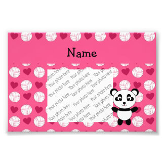 Personalized name panda pink volleyball hearts photograph