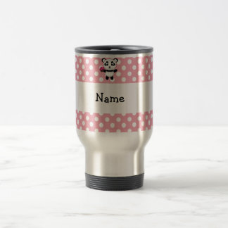 Personalized name panda with cupcake polka dots coffee mugs