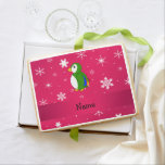 Personalized name parrot pink snowflakes jumbo cookie