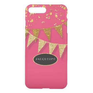 Personalized Name Party Pennant Banner ConfettiNOT iPhone 8 Plus/7 Plus Case