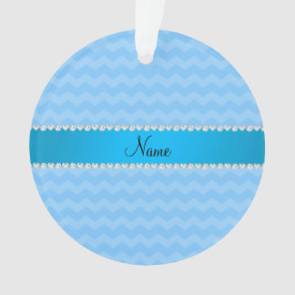 Personalized name pastel blue chevrons