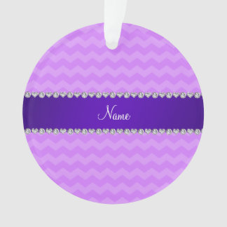 Personalized name pastel purple chevrons
