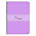 Personalized name pastel purple diamonds kindle case