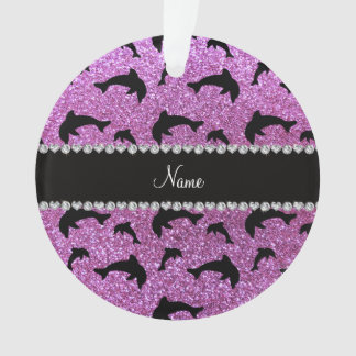 Personalized name pastel purple glitter dolphins