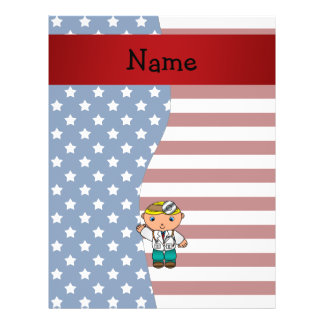 Personalized name Patriotic doctor Flyers