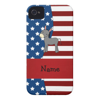 Personalized name Patriotic donkey iPhone 4 Cases