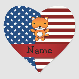 Personalized name Patriotic fox Stickers