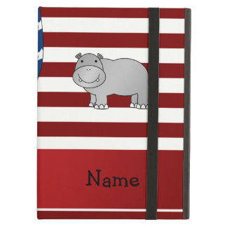 Personalized name Patriotic hippo Case For iPad Air