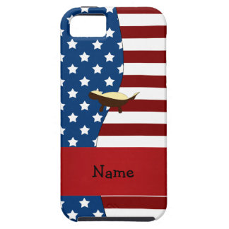 Personalized name Patriotic honey badger iPhone 5 Covers