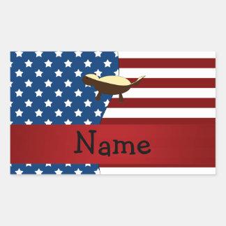 Personalized name Patriotic honey badger Sticker