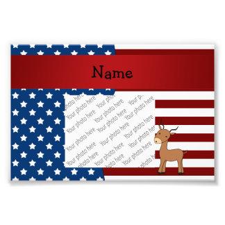 Personalized name Patriotic impala Photo Print